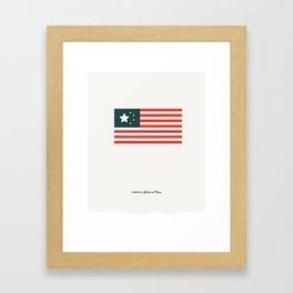 America: Made in China Framed Art Print