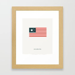 America: Made in China Framed Art Print