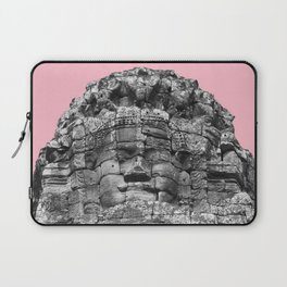 Buddha face with pink Laptop Sleeve