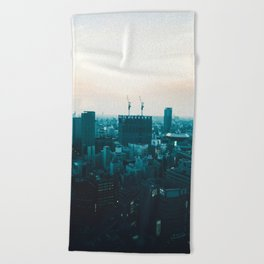 Osaka morning Beach Towel