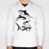 sharks Hoodies featuring Sharks by ChrisShirts