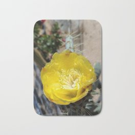 PRICKLY PEAR CACTUS FLOWER Bath Mat