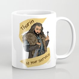 King Dwarf at Your Service Coffee Mug