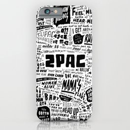 Rap lyrics iPhone Case