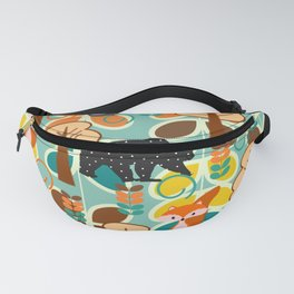 Magical forest with foxes and bears Fanny Pack