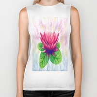 lotus flower Biker Tanks featuring Lotus by Lala