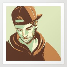 Snapback Art Print