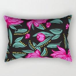 Fuscia Floral Rectangular Pillow