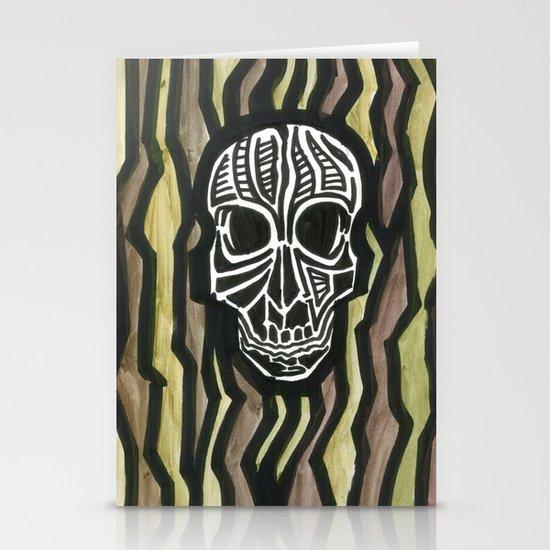 Skull Fiber Stationery Cards