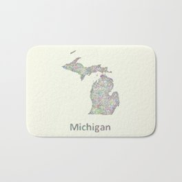 Michigan map Bath Mat