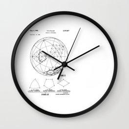 Buckminster Fuller 1961 Geodesic Structures Patent Wall Clock