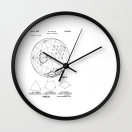 Buckminster Fuller 1961 Geodesic Structures Patent Wall Clock