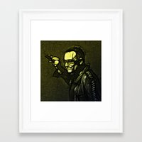 u2 Framed Art Prints featuring U2 / Bono 1 by JR van Kampen