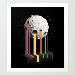 RainbowMoon Art Print