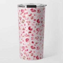 Leopard Pink Pattern Travel Mug