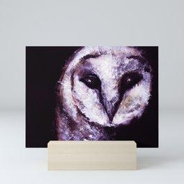 Barn Owl Painting by Lil Owl Studio Mini Art Print