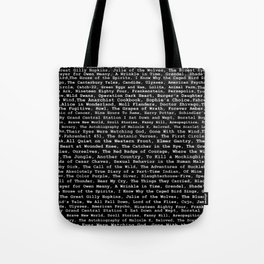 Banned Literature Internationally Print on Black Tote Bag