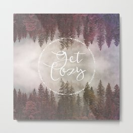Get Cozy Fall Reflections Metal Print