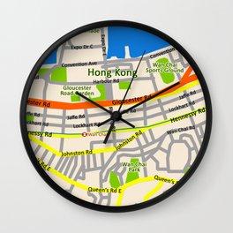 Hong Kong Map design Wall Clock
