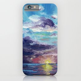 The journeying sunset iPhone Case