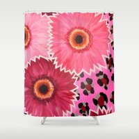 carnival Shower Curtains featuring CARNIVAL by Ruth Priest
