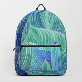 Blue and Green Leaves Backpack