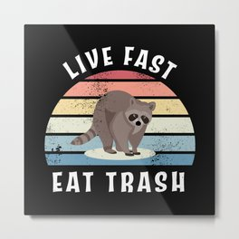 Funny Racoon Trash panda Raccoon Gift Metal Print
