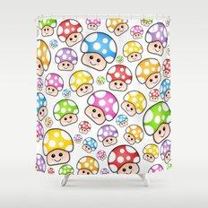 Iddy Diddy Mushrooms  Shower Curtain