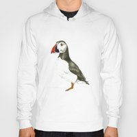 puffin Hoodies featuring Puffin by Night owl