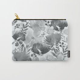 Watercolour background with variety of flowers V Carry-All Pouch