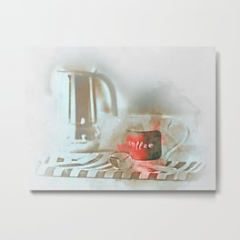 Coffee cup and mug drink Metal Print