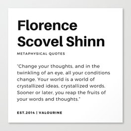 1    |Florence Scovel Shinn Quotes | 200126 Canvas Print