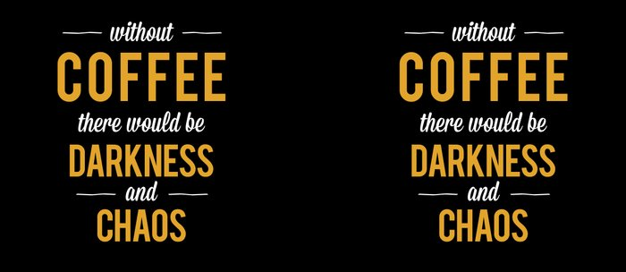 Without Coffee there would be Darkness and Chaos Coffee Mug