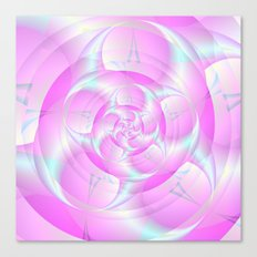 Spiral Pincers in Pink and Blue Canvas Print