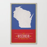 wisconsin Canvas Prints featuring WISCONSIN by Matthew Justin Rupp