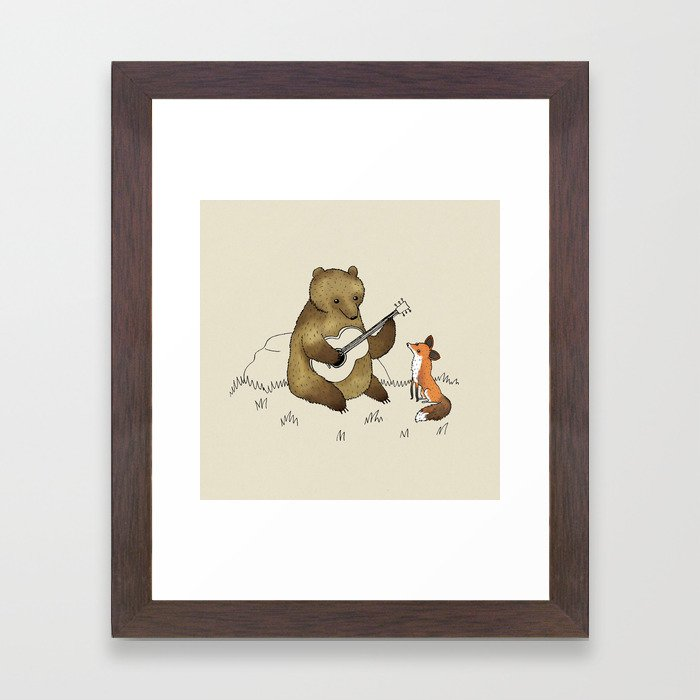 Bear & Fox Framed Art Print