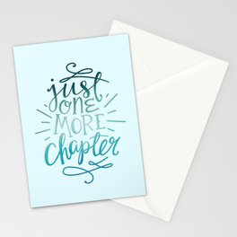 Book Worm One More Chapter Stationery Cards