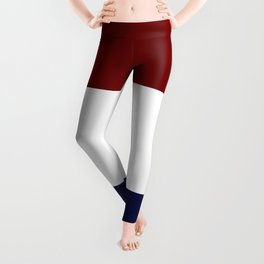 Team Colors 8....Maroon , navy and white Leggings