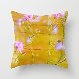 Pink and Yellow Summer Dream Throw Pillow