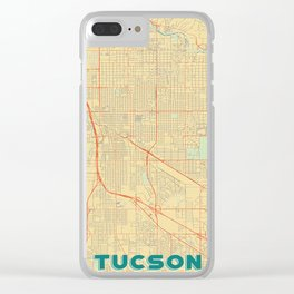 Tucson Map Retro Clear iPhone Case