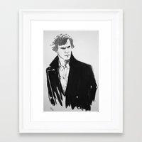 cumberbatch Framed Art Prints featuring Benedict Cumberbatch by Nina Viola Pantoufle