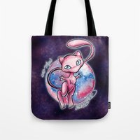 mew Tote Bags featuring 151 - Mew by Lyxy