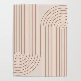 Minimal Line Curvature - Coral II Poster