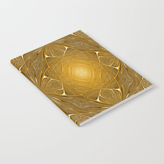Gold ornament Notebook
