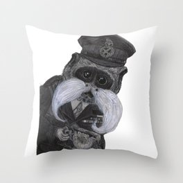 Colonel Silvasta Throw Pillow