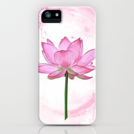 Lotus poster printable image Flower Esoteric Yoga Nature Pink  Picture Asian Oriental Eastern iPhone Case