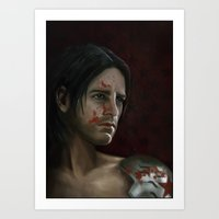 The Winter Soldier (Bloodied) Art Print