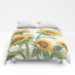 Blooming Sunflowers Comforters