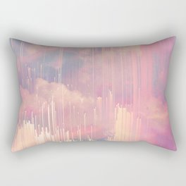 Candy Glitched Sky Rectangular Pillow
