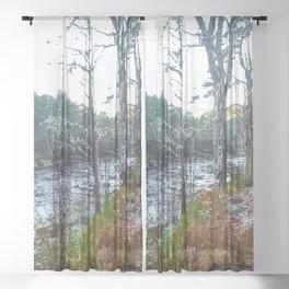 Winter in Scottish Highlands Sheer Curtain